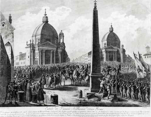 The Entry of the French Army into Rome led by Marshal Berthier, 15th February 1798