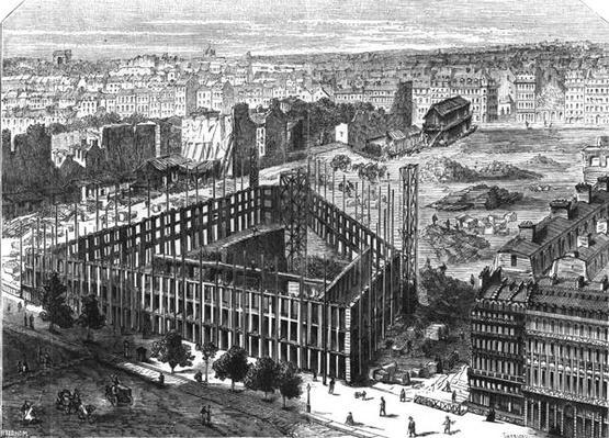 Transformation of Paris: Building in 1861