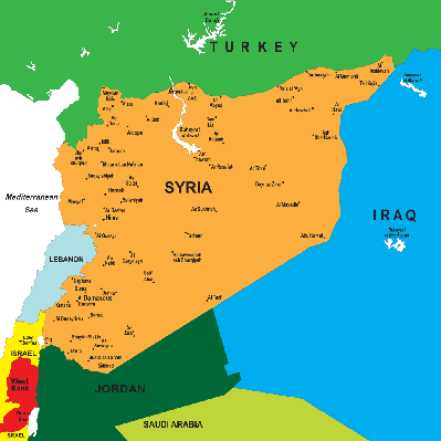 Political map of Syria | Conflicts: Syria