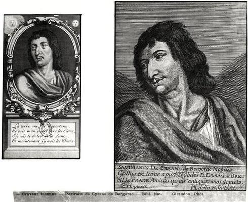 Two portraits of Savinien Cyrano de Bergerac