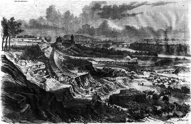 Levelling of the Chaillot Hill for the building of Roi de Rome place in 1812-13