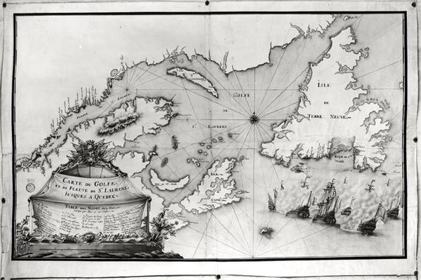 Map of St. Lawrence Gulf and River, 1699