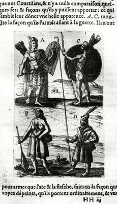 Iroquois of New France, from 'Voyages de sieur Champlain' by Samuel de Champlain