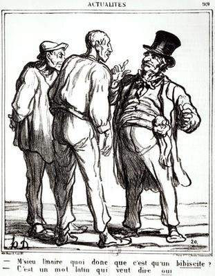 Cartoon about the plebiscite of 8th May 1870, from the Journal 'Le Charivari'
