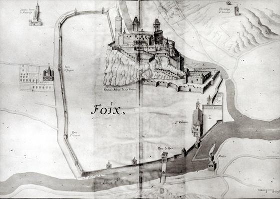 City of Foix, from 'Grand Atlas', early 17th century