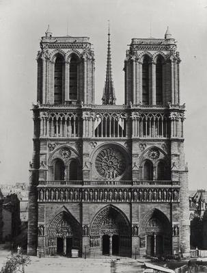 Facade of Notre-Dame, Paris, late 19th century