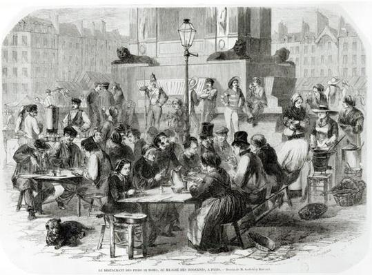 The Restaurant of wet feet, at the Marche des Innocents in Paris