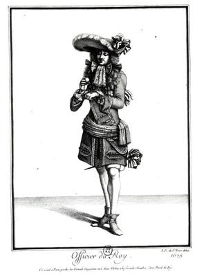 King's officer, 1675