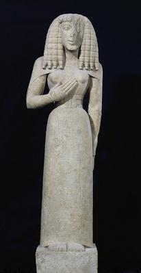 Female statue, known as the Auxerre Goddess, c.640-630 BC