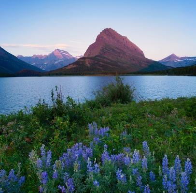 Grinnell Point and Swiftcurrent Lake, Glacier National Park, Montana | Earth's Surface