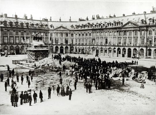 Destruction of the Vendome Column during the Commune, 1871