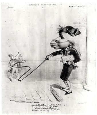 Caricature of Adolphe Adam