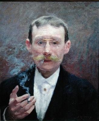 Self portrait, Smoking