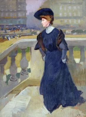Madame Renoux on the Steps of the Trinity Church, 1904