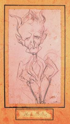 Caricature of Hector Berlioz