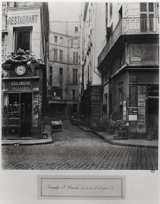 Impasse St. Claude, from Rue St. Sauveur, Paris, between 1858-78