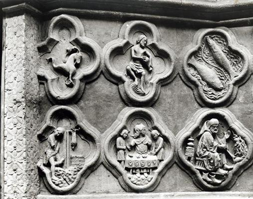 Quatrefoils with the Signs of the Zodiac and the Labours of the Year, from the Cathedral of Notre-Dame in Amiens