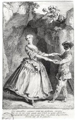 Harlequin and Colombine in a comedy by Louis de Boissy