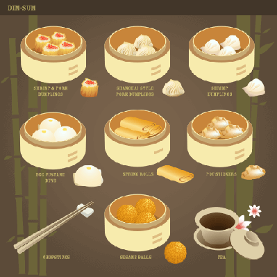 Dim sum illustrations | Health and Nutrition