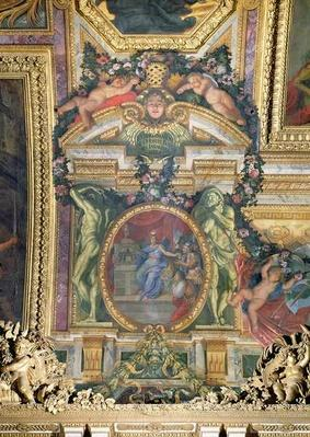 The Foundation of the Hotel Royal des Invalides in 1674, Ceiling Painting from the Galerie des Glaces