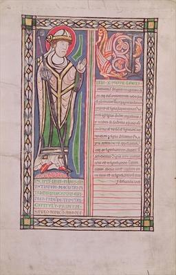 Ms 186 Fol.2v Pierre Lombard Bishop of Paris, from the 'Liber Quatuor Sententiarum'