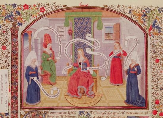 Ms 927 Fol.93v The Theory of Intellectual Virtues, from 'Ethics, Politics and Economics' by Aristotle