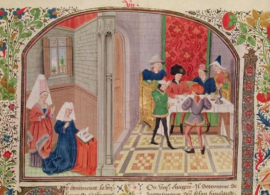 Ms 927 Fol.107 Temperance and Intemperance, from 'Ethics, Politics and Economics' by Aristotle