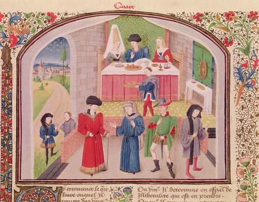 Ms 927 Fol.52v Prodigality, Liberality and Greed, from 'Ethics, Politics and Economics' by Aristotle