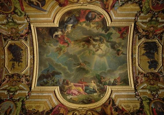 The Capture of the Town and Citadel of Ghent in six days in 1678 and the Strategy of the Spanish Ruined by the taking of Ghent, ceiling painting from the Galerie des Glaces