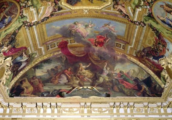 Holland Accepts Peace and Detaches herself from the Holy Roman Empire and from Spain in 1678, ceiling painting from the Galerie des Glaces