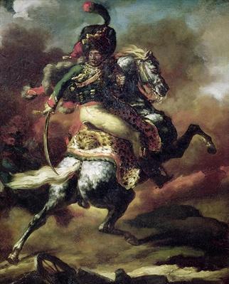 Officer of the Hussars Charging on Horseback