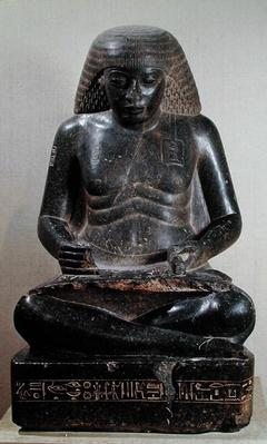 Amenhotep, son of Hapu, seated cross-legged, from the Temple of Amun, Karnak, c.1391-53 BC