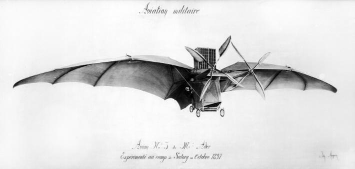Avion III, 'The Bat', designed by Clement Ader