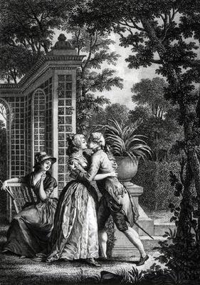 The First Kiss of Love, illustration from 'La Nouvelle Heloise' by Jean-Jacques Rousseau