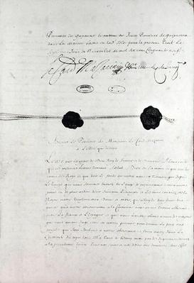 The Treaty of the Pyrenees, signed by Cardinal Jules Mazarin