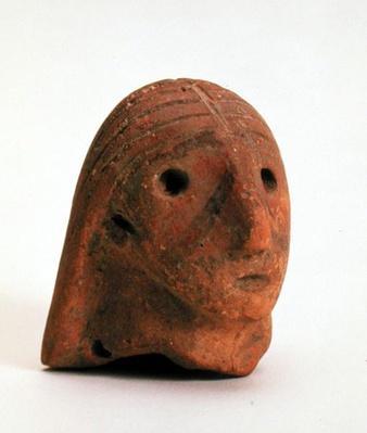 Head of a female figurine, Krinichki, 4th millennium BC