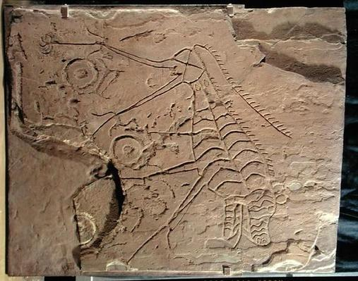 Slab decorated with a fabulous beast, from Southern Siberia, 2nd millennium BC