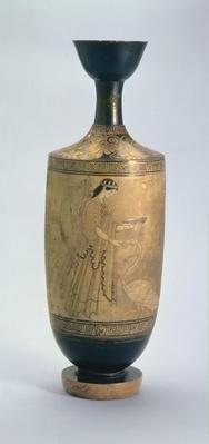 Attic white-ground Lekythos with Artemis and a swan, c.490 BC