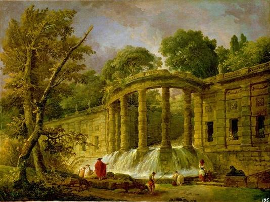 Pavilion with Cascade, 1760
