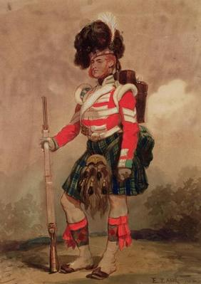 A Soldier of the 79th Highlanders at Chobham Camp in 1853