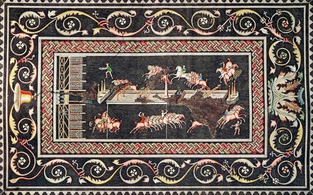 Representation of a mosaic discovered in Lyon depicting Circus games, 1806