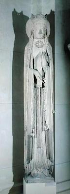 Jamb figure of a queen, removed from the west facade of the Eglise de Notre-Dame, Corbeil