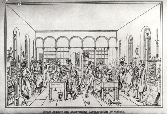 View of the chemistry laboratory of Baron Justus von Liebig