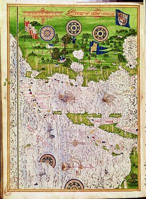 Fol.47v Map of Peru, from 'Cosmographie Universelle', 1555