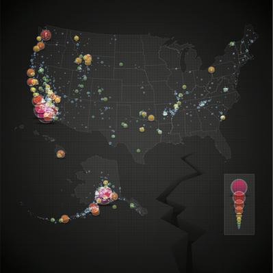 USA Earthquake Map | Natural Disasters: Hurricanes, Tsunamis, Earthquakes