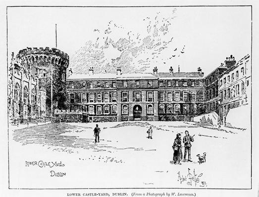 Lower Castle Yard, Dublin, engraved by Herbert Railton