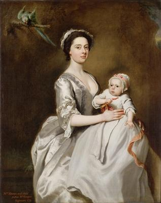 Mrs Sharpe and Child, 1731