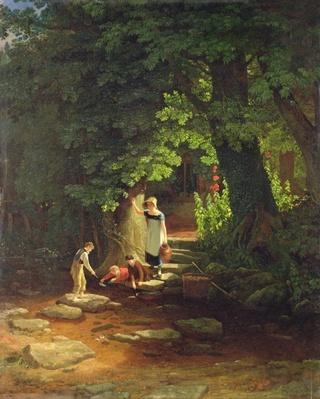 Children by a Brook, c.1822