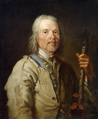 Man Holding a Staff, c.1800