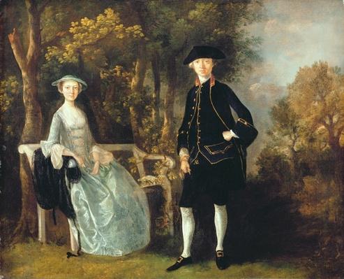 Lady Lloyd and her son, Richard Savage Lloyd, of Hintlesham Hall, Suffolk, c.1745-46